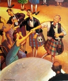 Set of four Ceilidh Scenes